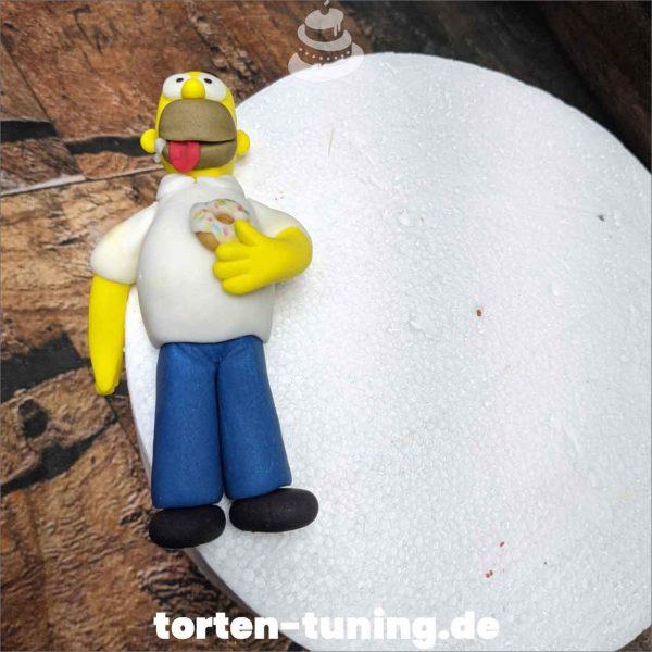 Tortendekoration Homer Simpsons Homer Simpson Tortendekoration online bestellen Fondantfiguren modellierte essbare Figuren aus Fondant Backzubehör Tortenfiguren Tortenfigur individuelle Tortendeko