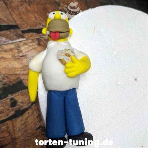 Tortendekoration Homer Simpsons Homer Tortendekoration online bestellen Fondantfiguren modellierte essbare Figuren aus Fondant Backzubehör Tortenfiguren Tortenfigur individuelle Tortendeko