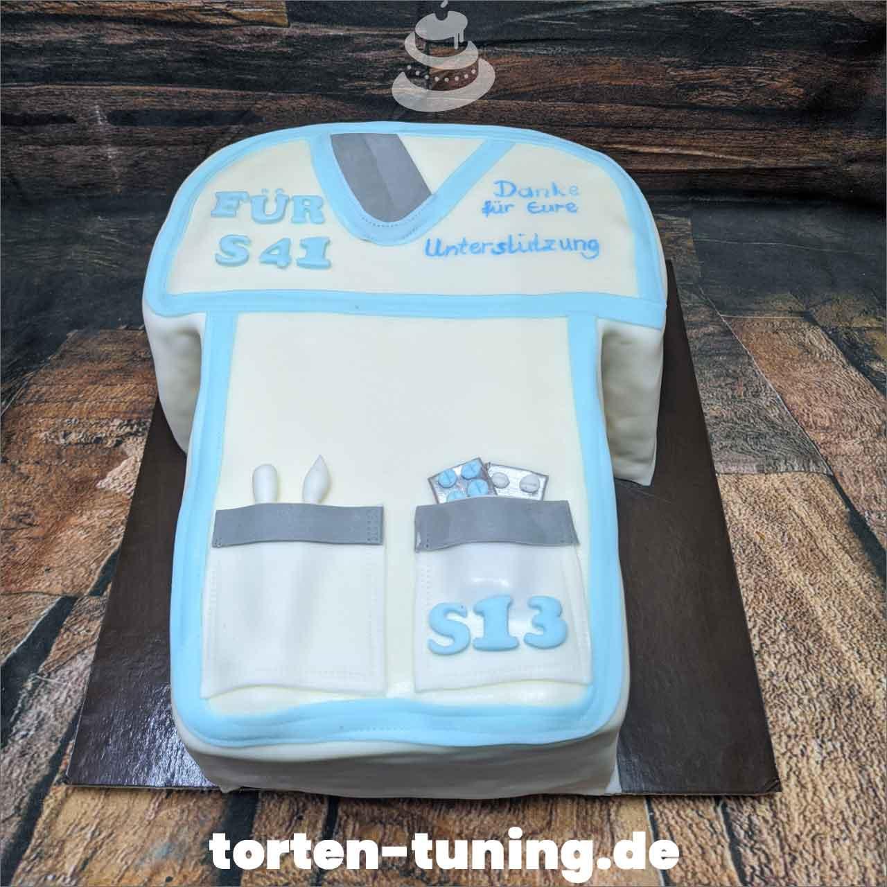 Krankenschwester Kittel Obsttorte Geburtstagstorte Motivtorte Torte Tortendekoration Torte online bestellen Suhl Thüringen Torten Tuning Sahnetorte Tortenfiguren Cake Topper