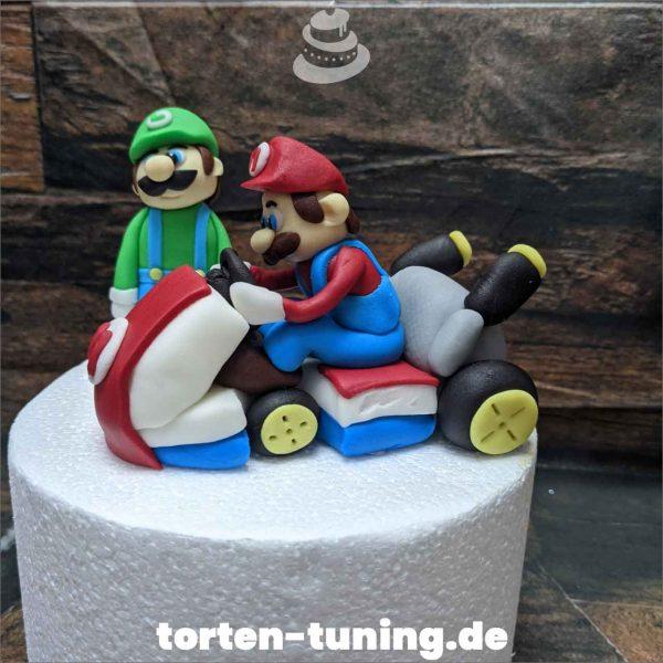 Luigi Mario Kart Tortendekoration online bestellen Fondantfiguren modellierte essbare Figuren aus Fondant Backzubehör Tortenfiguren Tortenfigur individuelle Tortendeko