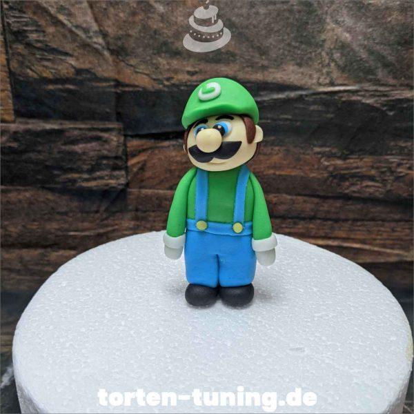 Luigi Super Mario Tortendekoration online bestellen Fondantfiguren modellierte essbare Figuren aus Fondant Backzubehör Tortenfiguren Tortenfigur individuelle Tortendeko