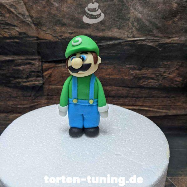 Luigi Tortendekoration online bestellen Fondantfiguren modellierte essbare Figuren aus Fondant Backzubehör Tortenfiguren Tortenfigur individuelle Tortendeko