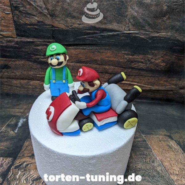 Mario Kart Luigi Tortendekoration online bestellen Fondantfiguren modellierte essbare Figuren aus Fondant Backzubehör Tortenfiguren Tortenfigur individuelle Tortendeko