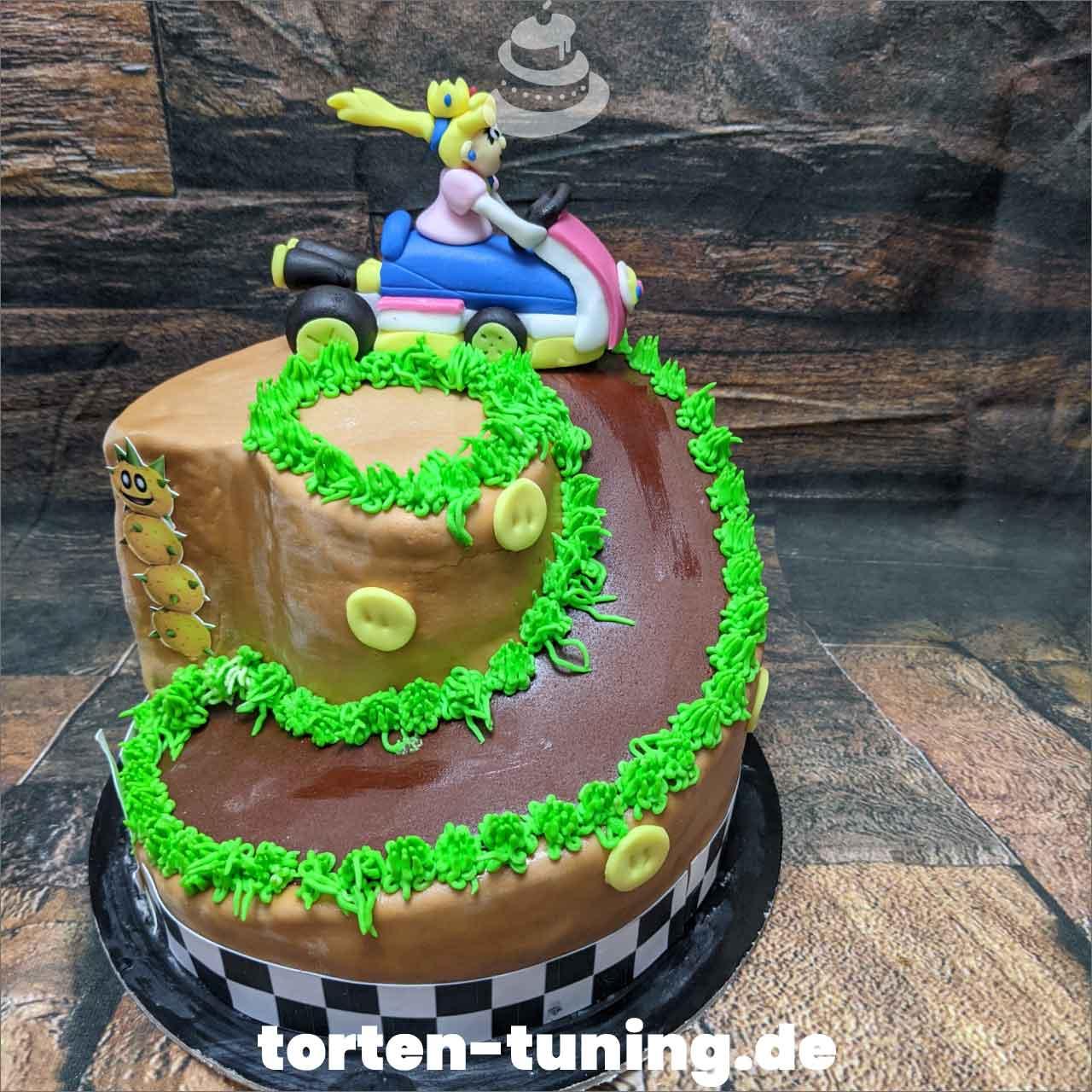 Mario Kart Peach Dripcake Obsttorte Geburtstagstorte Motivtorte Torte Tortendekoration Torte online bestellen Suhl Thüringen Torten Tuning Sahnetorte Tortenfiguren Cake Topper