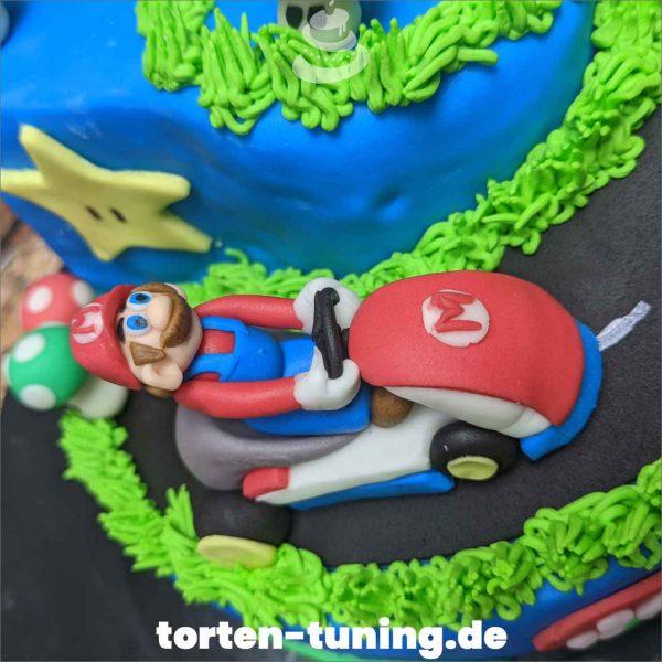 Mario Kart Tortendekoration online bestellen Fondantfiguren modellierte essbare Figuren aus Fondant Backzubehör Tortenfiguren Tortenfigur individuelle Tortendeko