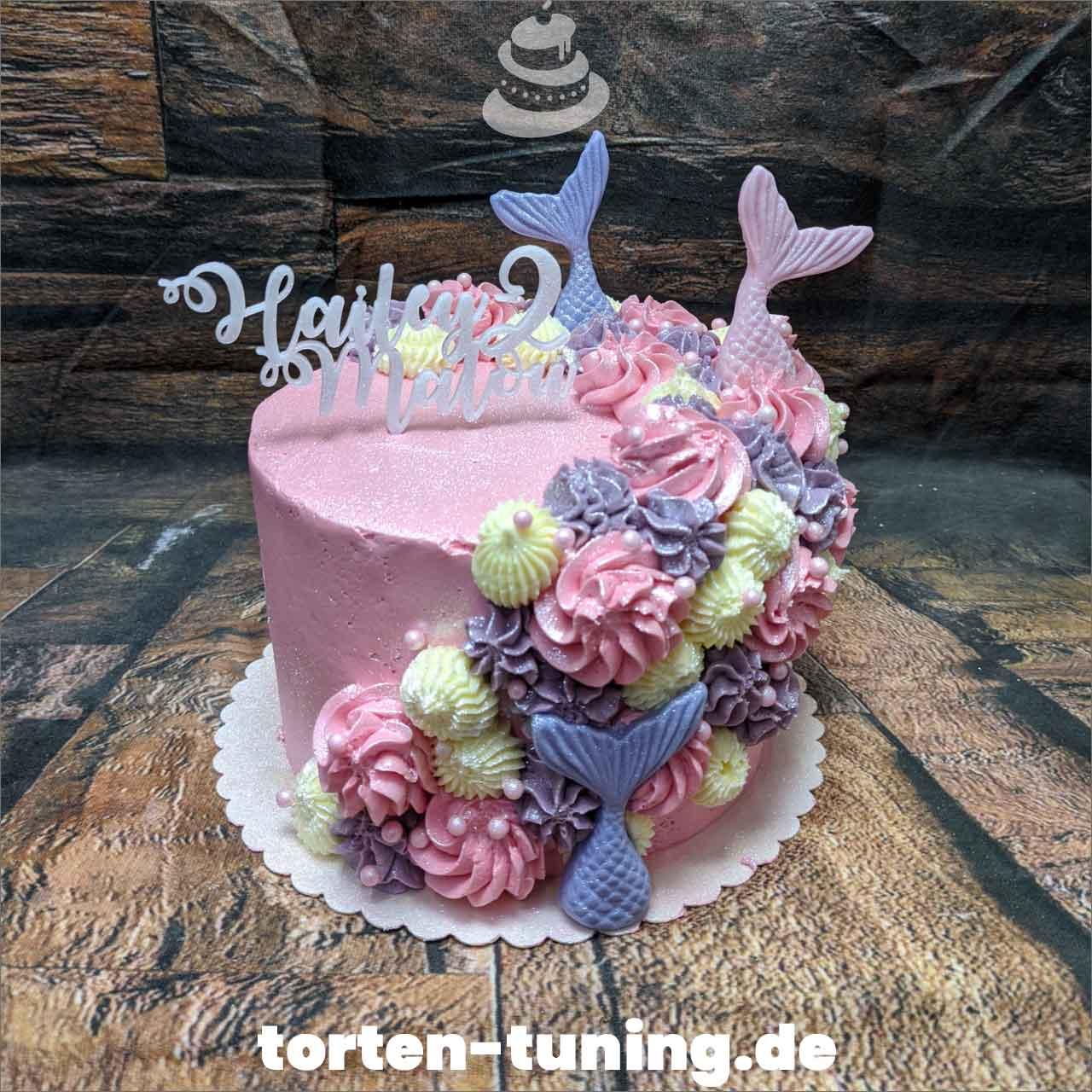 Meerjungfrauen Dripcake Obsttorte Geburtstagstorte Motivtorte Torte Tortendekoration Torte online bestellen Suhl Thüringen Torten Tuning Sahnetorte Tortenfiguren Cake Topper