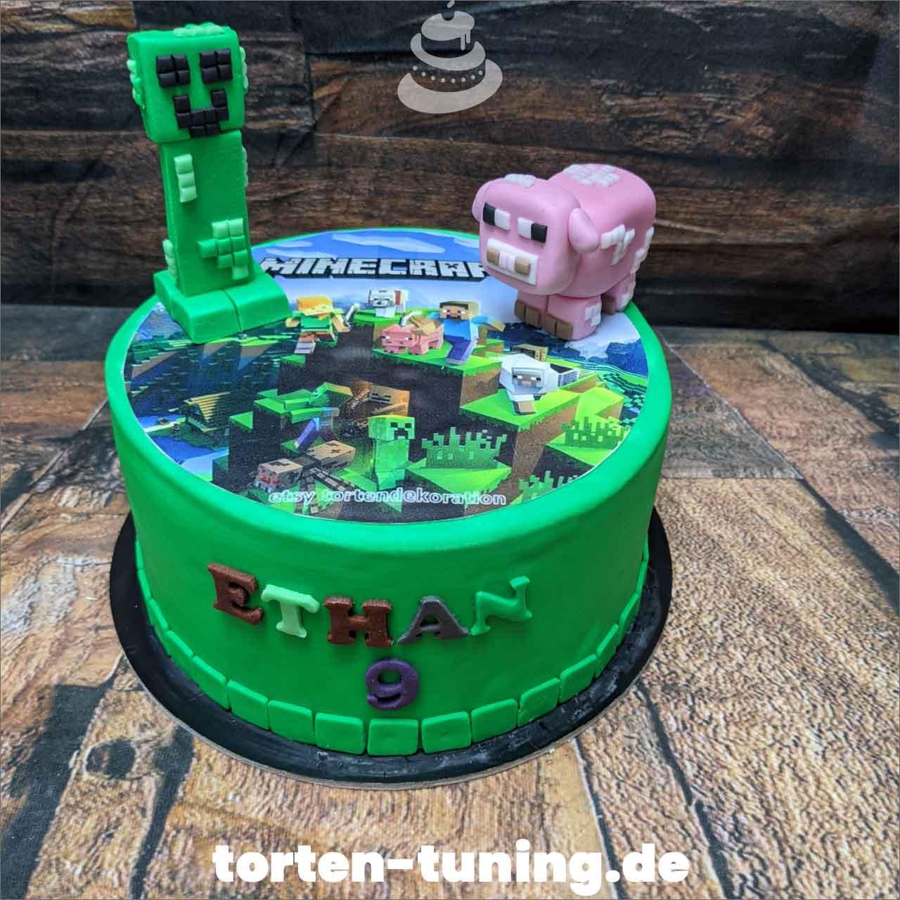 Minecraft Dripcake Obsttorte Geburtstagstorte Motivtorte Torte Tortendekoration Torte online bestellen Suhl Thüringen Torten Tuning Sahnetorte Tortenfiguren Cake Topper