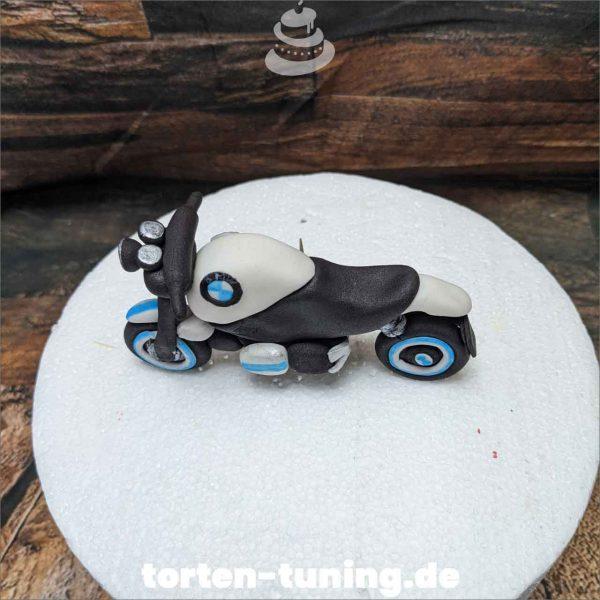 Motorrad BMW Tortendekoration online bestellen Fondantfiguren modellierte essbare Figuren aus Fondant Backzubehör Tortenfiguren Tortenfigur individuelle Tortendeko (2)