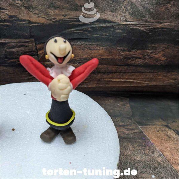 Olivia Poppeye Tortendekoration online bestellen Fondantfiguren modellierte essbare Figuren aus Fondant Backzubehör Tortenfiguren Tortenfigur individuelle Tortendeko