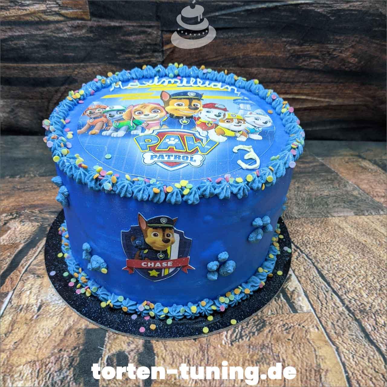 Paw Patrol Fototorte Dripcake Obsttorte Geburtstagstorte Motivtorte Torte Tortendekoration Torte online bestellen Suhl Thüringen Torten Tuning Sahnetorte Tortenfiguren Cake Topper