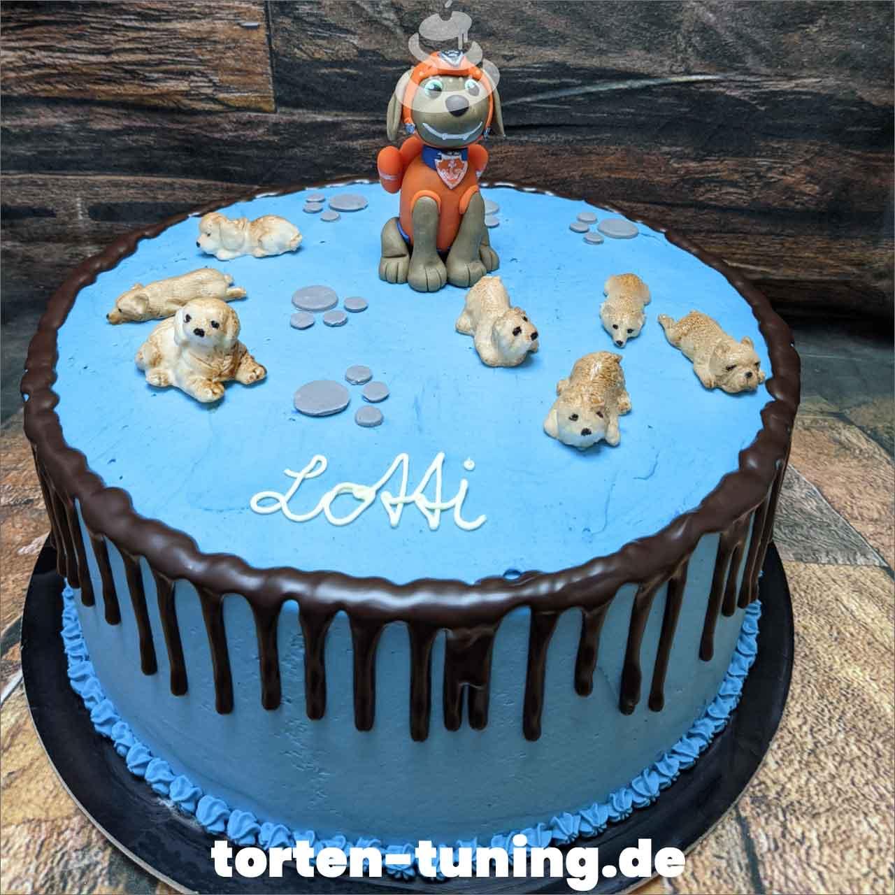 Paw Patrol Zuma Dripcake Obsttorte Geburtstagstorte Motivtorte Torte Tortendekoration Torte online bestellen Suhl Thüringen Torten Tuning Sahnetorte Tortenfiguren Cake Topper