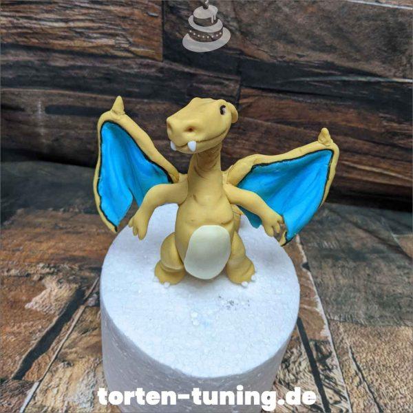 Pokemon Glurak Tortendekoration online bestellen Fondantfiguren modellierte essbare Figuren aus Fondant Backzubehör Tortenfiguren Tortenfigur individuelle Tortendeko