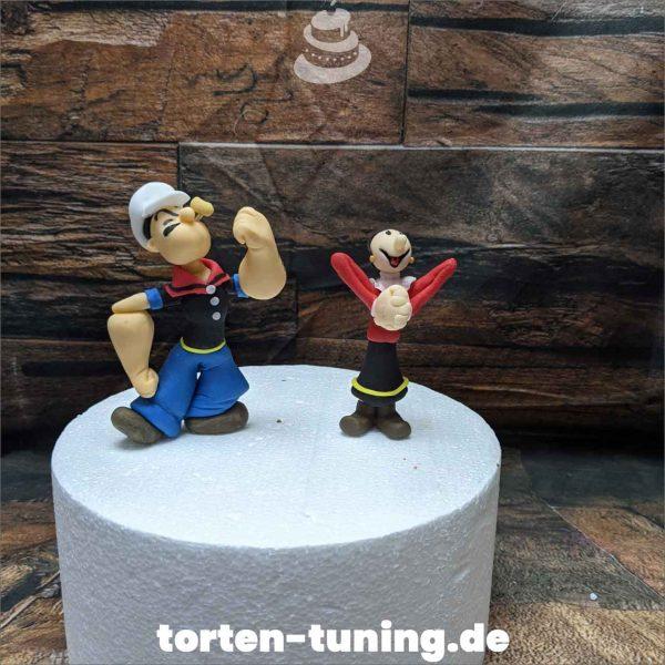 Poppeye Tortendekoration online bestellen Fondantfiguren modellierte essbare Figuren aus Fondant Backzubehör Tortenfiguren Tortenfigur individuelle Tortendeko