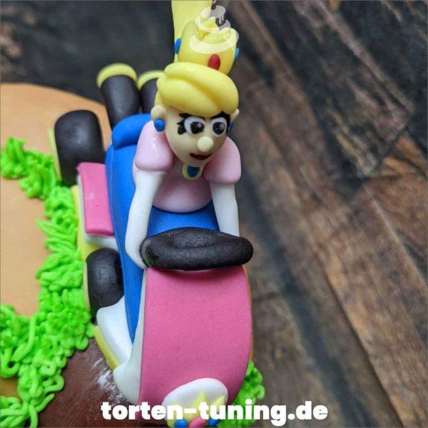 Prinzessin Peach Tortendekoration online bestellen Fondantfiguren modellierte essbare Figuren aus Fondant Backzubehör Tortenfiguren Tortenfigur individuelle Tortendeko