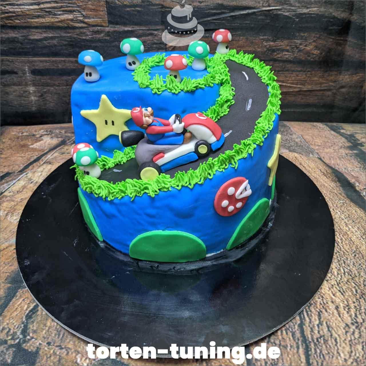 Super Mario Cart Dripcake Obsttorte Geburtstagstorte Motivtorte Torte Tortendekoration Torte online bestellen Suhl Thüringen Torten Tuning Sahnetorte Tortenfiguren Cake Topper