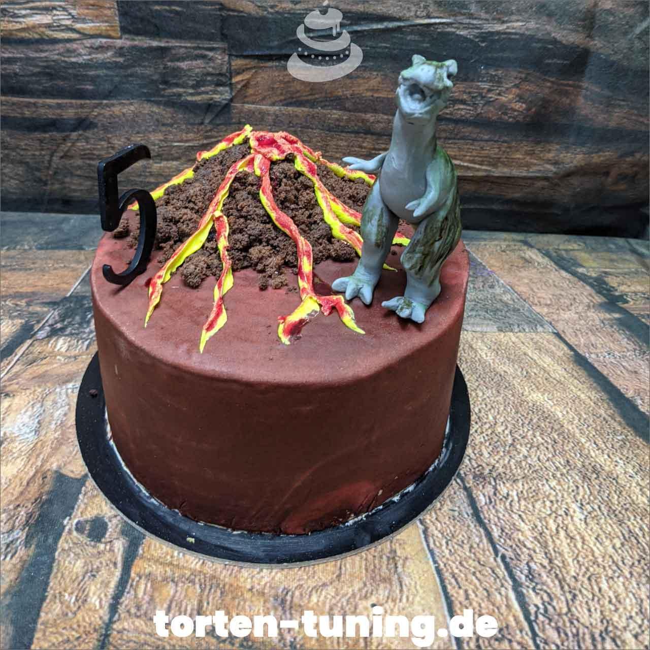 T-Rex Vulkan Dripcake Obsttorte Geburtstagstorte Motivtorte Torte Tortendekoration Torte online bestellen Suhl Thüringen Torten Tuning Sahnetorte Tortenfiguren Cake Topper