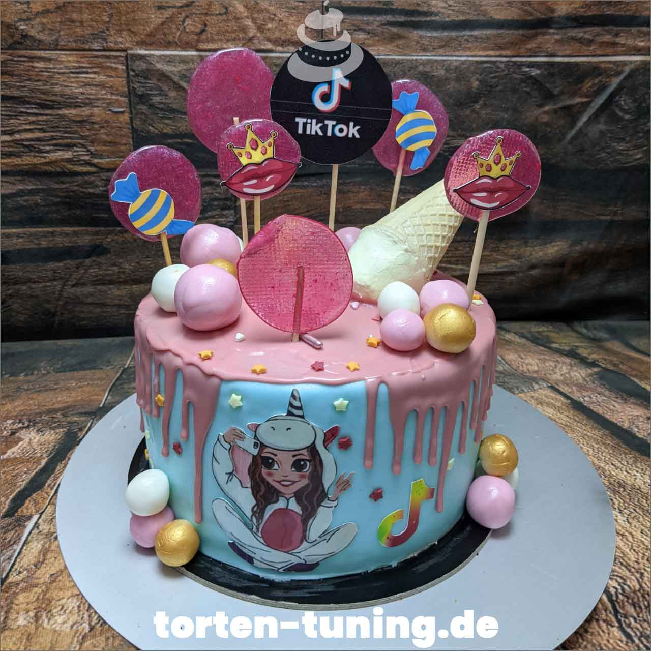 Tik Tok Torte Dripcake Obsttorte Geburtstagstorte Motivtorte Torte Tortendekoration Torte online bestellen Suhl Thüringen Torten Tuning Sahnetorte Tortenfiguren Cake Topper