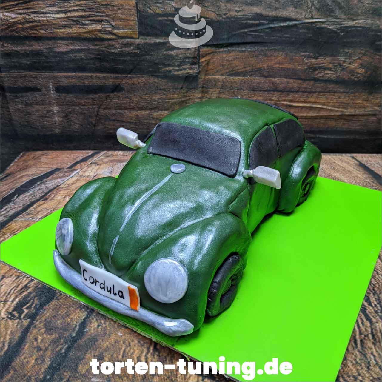 VW Käfer 3D Torte Autotorte Obsttorte Geburtstagstorte Motivtorte Torte Tortendekoration Torte online bestellen Suhl Thüringen Torten Tuning Sahnetorte Tortenfiguren Cake Topper