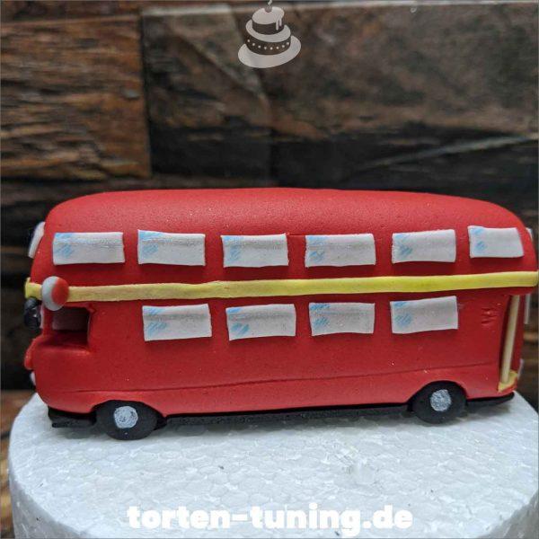 etagen Bus Tortendekoration online bestellen Fondantfiguren modellierte Figuren essbare Figuren aus Fondant Backzubehör Tortenfiguren Tortenfigur individuelle Tortendeko