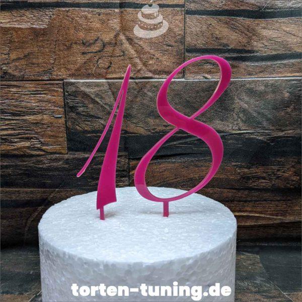 Cake Topper bunte Zahlen