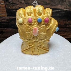 Tortendekoration Infinity Handschuh