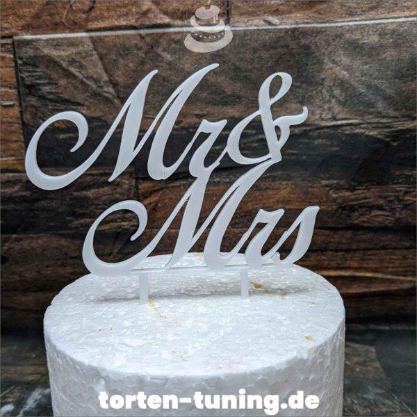 Cake Topper Mr und Mrs