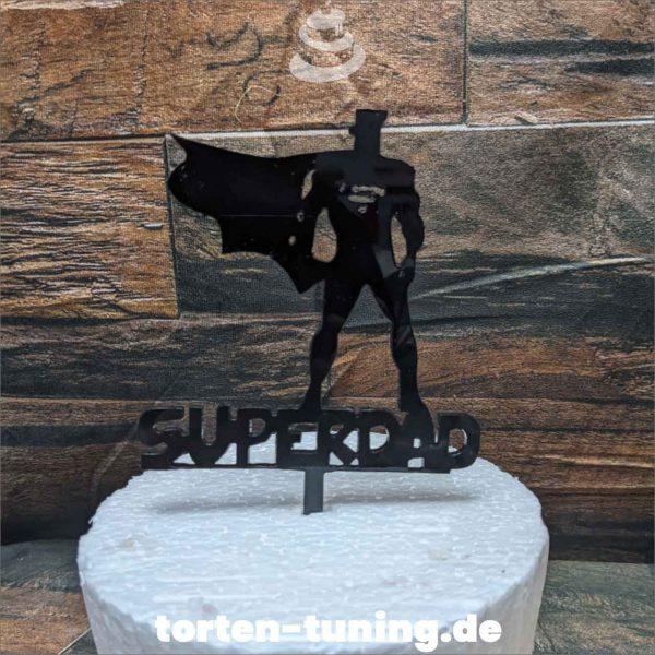 Cake Topper Superdad