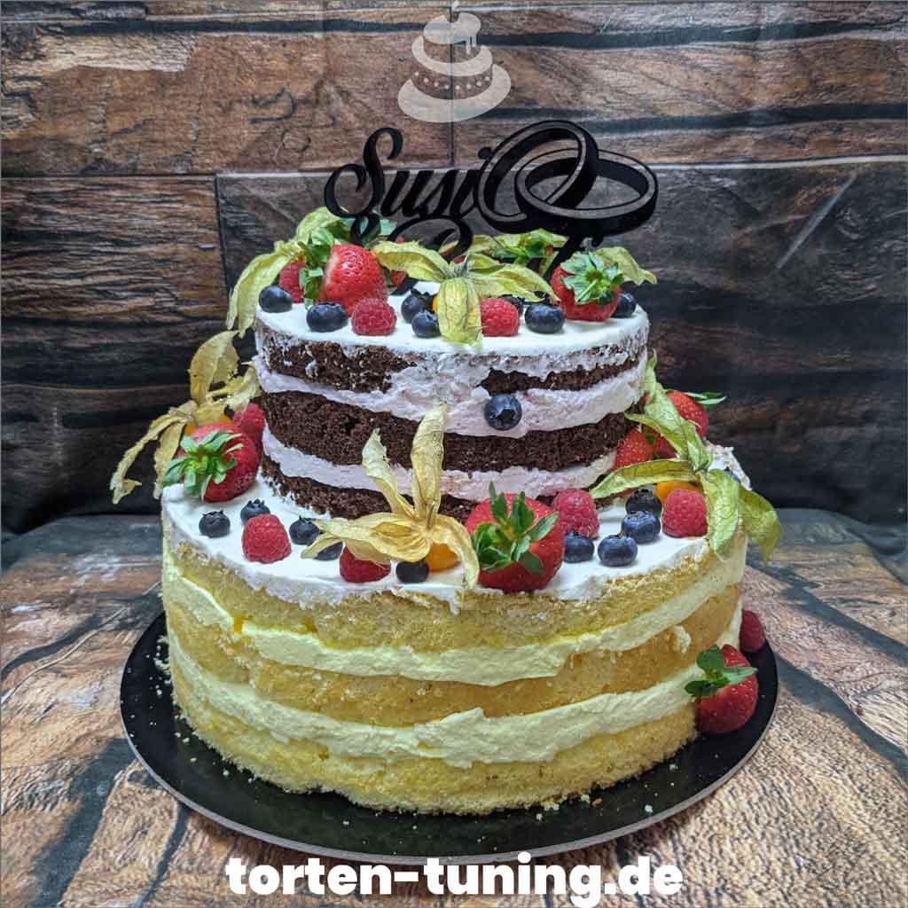 Hochzeitstorte Naked Cake Tortendekoration modellierte Figur Fondantfigur Tortenfigur Torte Torten Tuning Geburtstagstorte Suhl Arnstadt Hochzeitstorte Kindertorten Babytorten Fon