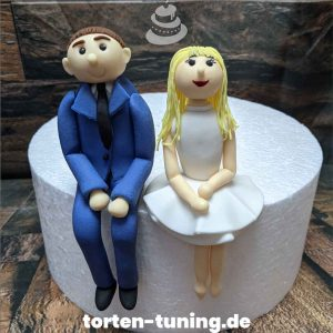Tortendekoration Brautpaar