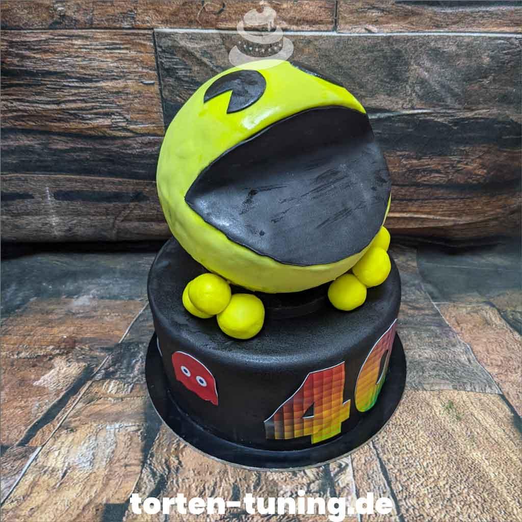 Pac Man 3D Torte Tortendekoration modellierte Figur Fondantfigur Tortenfigur Torte Torten Tuning Geburtstagstorte Suhl Arnstadt Hochzeitstorte Kindertorten Babytorten Fondant onli