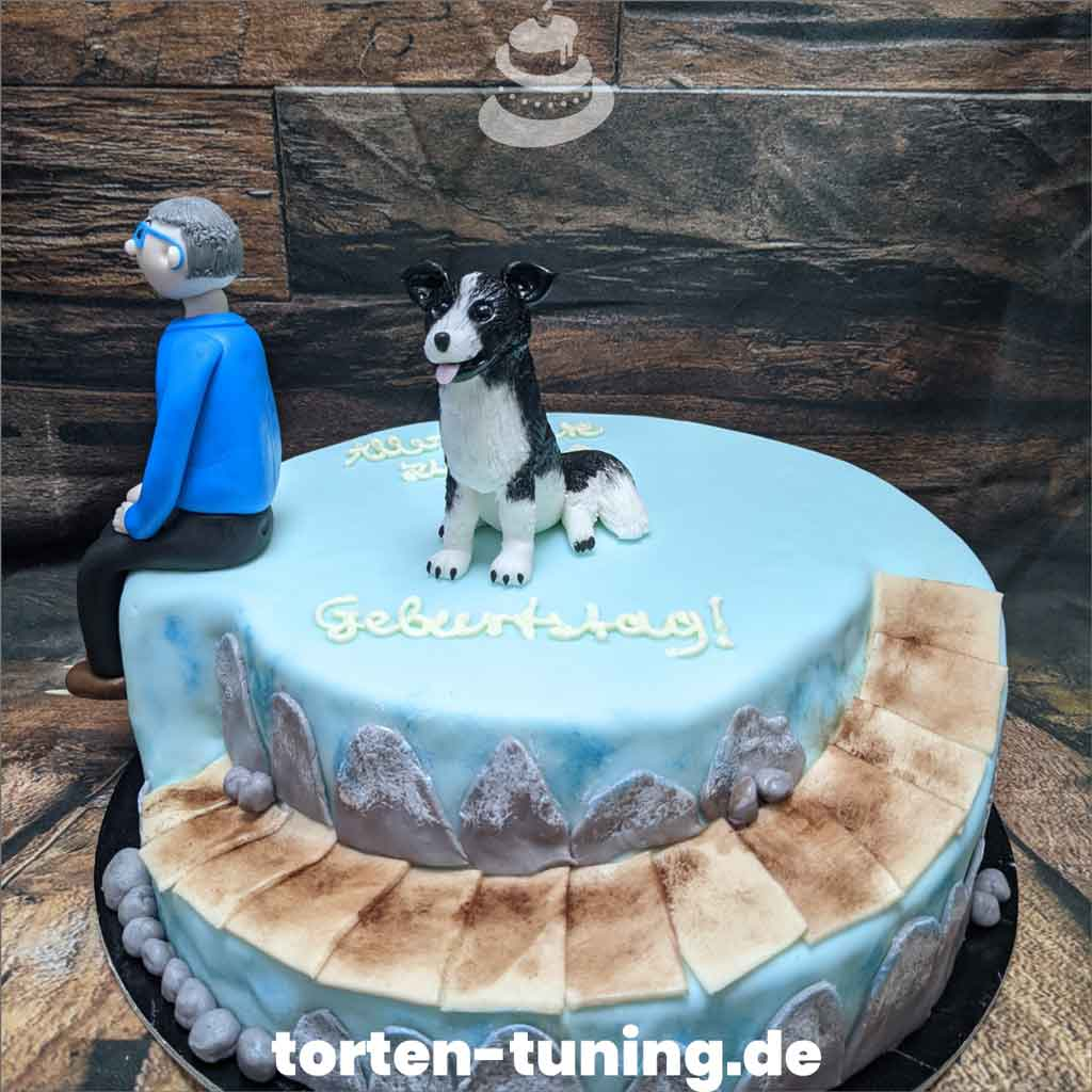 Torte Hund Tortendekoration modellierte Figur Fondantfigur Tortenfigur TTorte Torten Tuning Geburtstagstorte Suhl Arnstadt Hochzeitstorte Kindertorten Babytorten Fondant onli