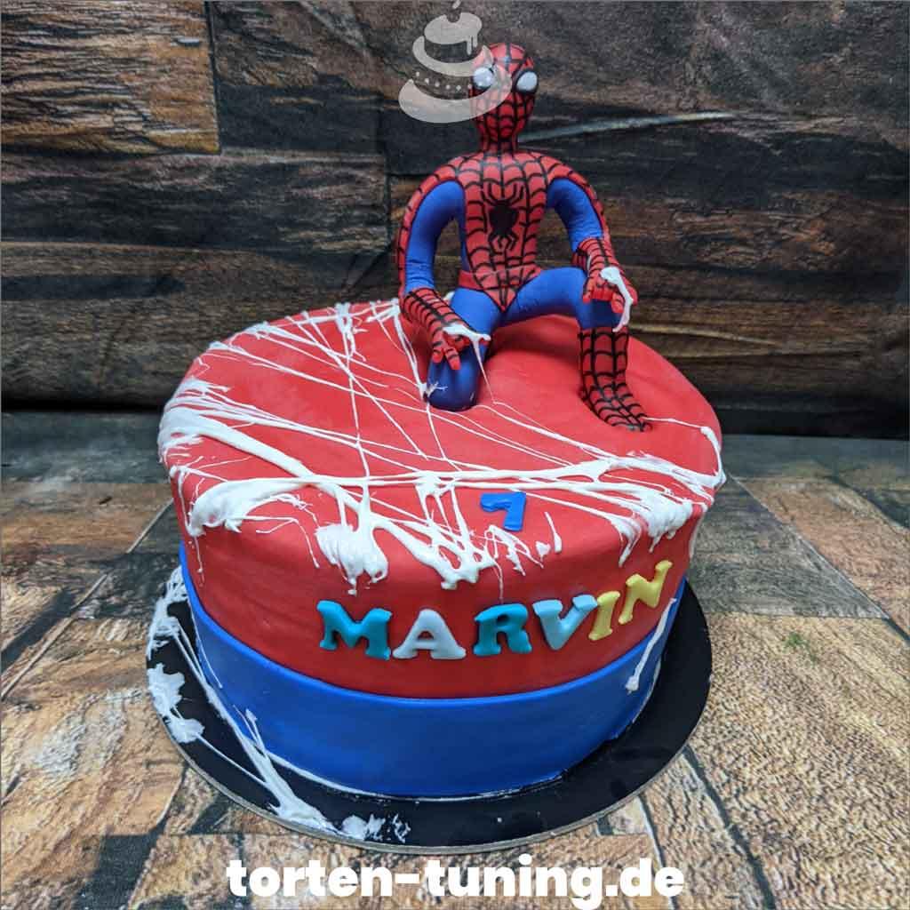 Torte Spiderman Tortendekoration modellierte Figur Fondantfigur Tortenfigur Torte Torten Tuning Geburtstagstorte Suhl Arnstadt Hochzeitstorte Kindertorten Babytorten Fondant onli