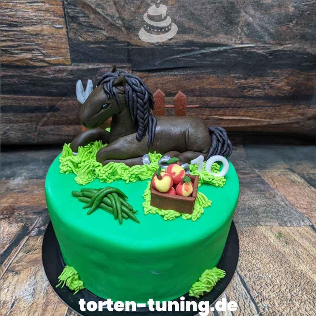 Torte mit Pferd Tortendekoration modellierte Figur Fondantfigur Tortenfigur TTorte Torten Tuning Geburtstagstorte Suhl Arnstadt Hochzeitstorte Kindertorten Babytorten Fondant onli