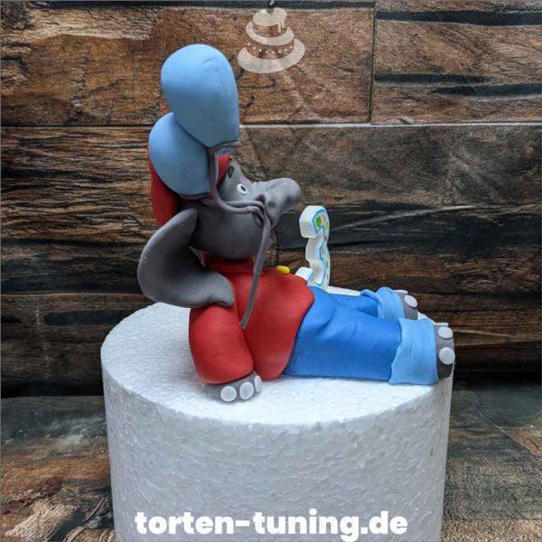 zahl und Benjamin Blümchen Tortendekoration online bestellen Fondantfiguren modellierte essbare Figuren aus Fondant Backzubehör Tortenfiguren Tortenfigur individuelle Tortendeko.jpg